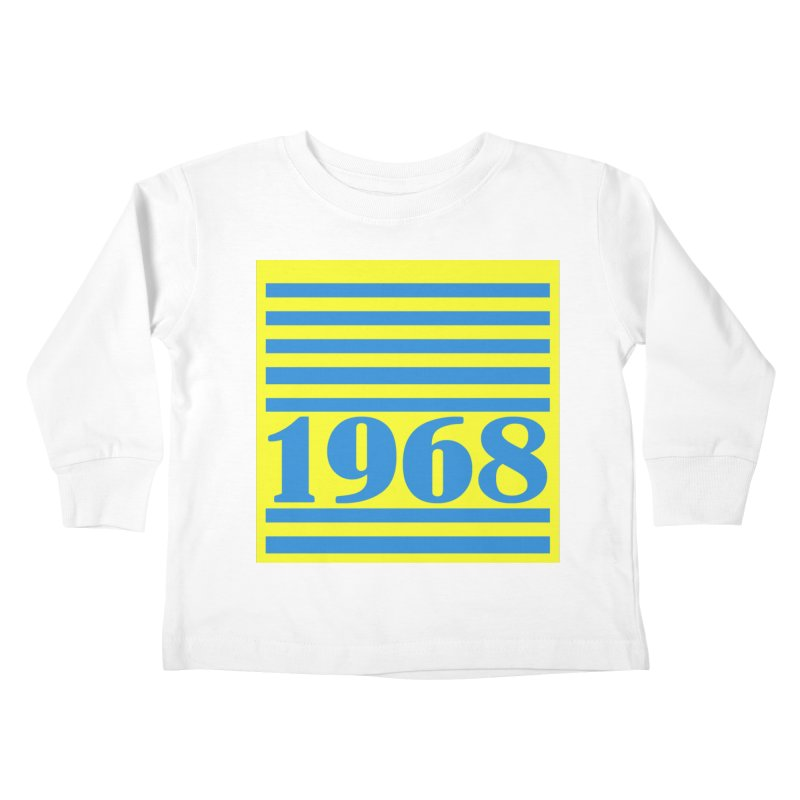 1968 STRIPES-2 Kids Toddler Longsleeve T-Shirt by THE ORANGE ZEROMAX STREET COUTURE