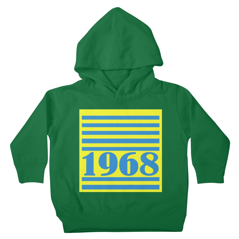 1968 STRIPES-2 Kids Toddler Pullover Hoody by THE ORANGE ZEROMAX STREET COUTURE