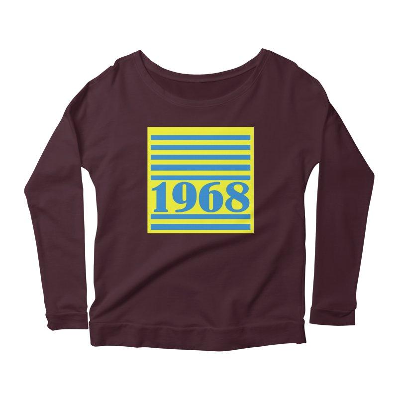 1968 STRIPES-2 Women's Scoop Neck Longsleeve T-Shirt by THE ORANGE ZEROMAX STREET COUTURE
