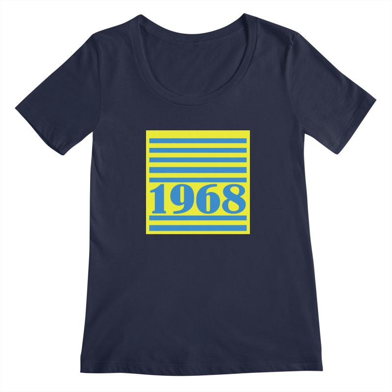 1968 STRIPES-2 Women's Scoopneck by THE ORANGE ZEROMAX STREET COUTURE