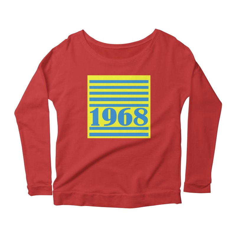1968 STRIPES-2 Women's Scoop Neck Longsleeve T-Shirt by THE ORANGE ZEROMAX STREET COUTURE