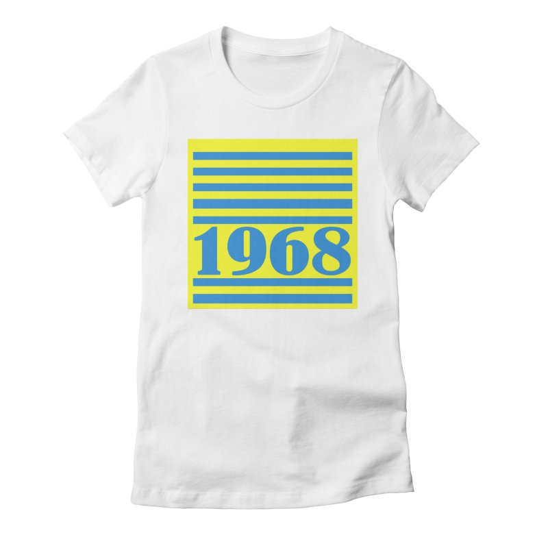 1968 STRIPES-2 Women's Fitted T-Shirt by THE ORANGE ZEROMAX STREET COUTURE