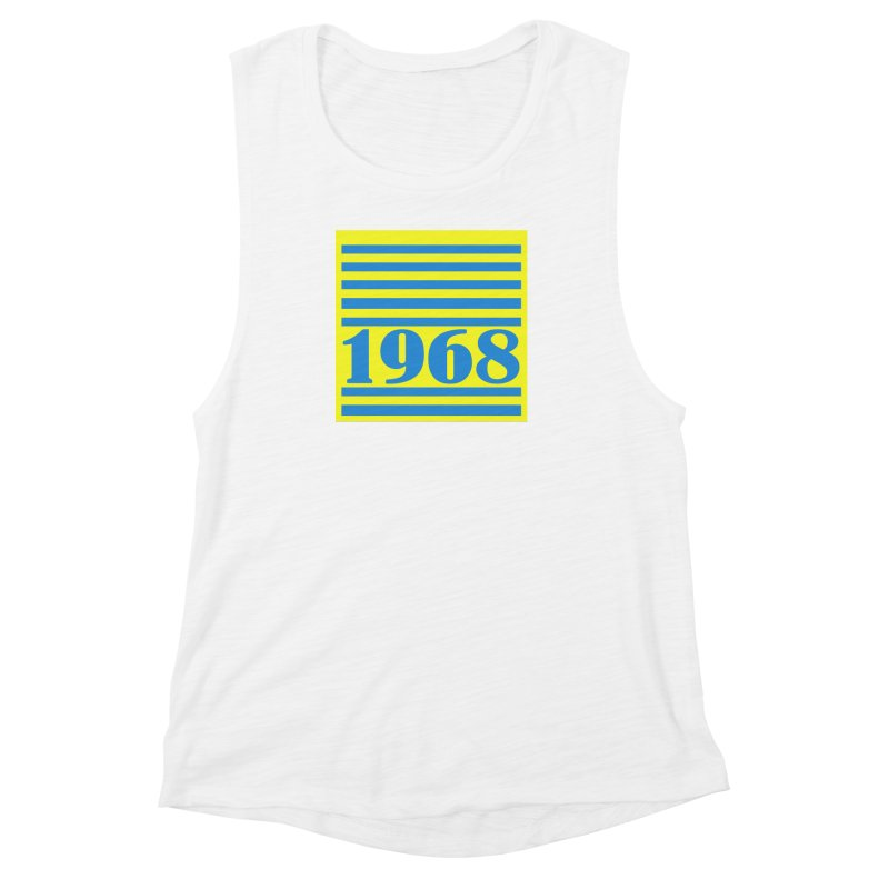 1968 STRIPES-2 Women's Muscle Tank by THE ORANGE ZEROMAX STREET COUTURE