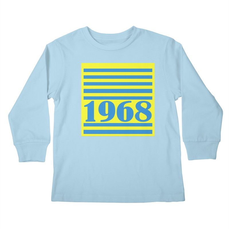 1968 STRIPES-2 Kids Longsleeve T-Shirt by THE ORANGE ZEROMAX STREET COUTURE