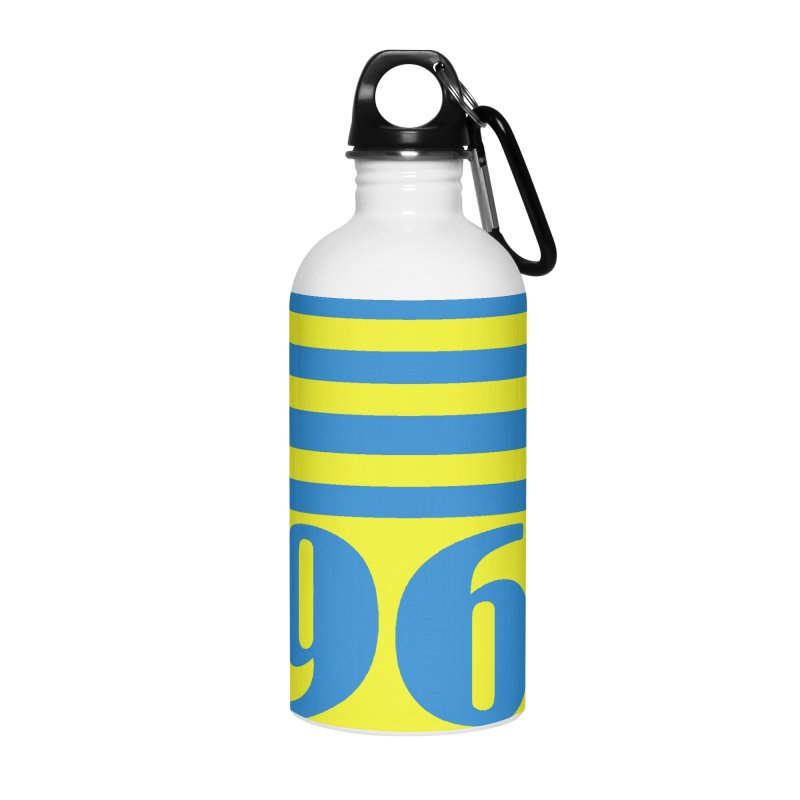 1968 STRIPES-2 Accessories Water Bottle by THE ORANGE ZEROMAX STREET COUTURE