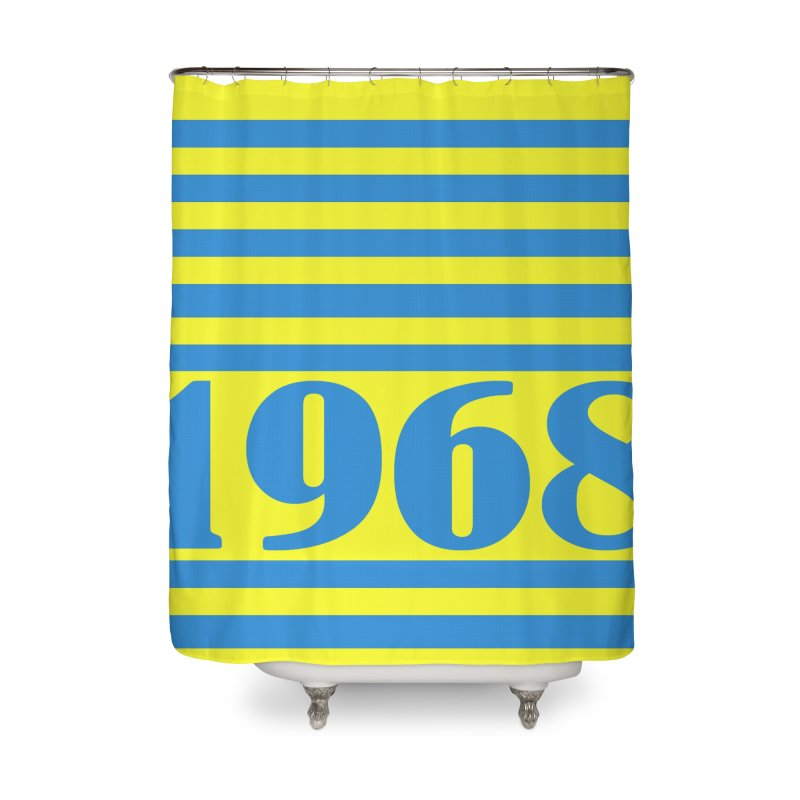 1968 STRIPES-2 Home Shower Curtain by THE ORANGE ZEROMAX STREET COUTURE
