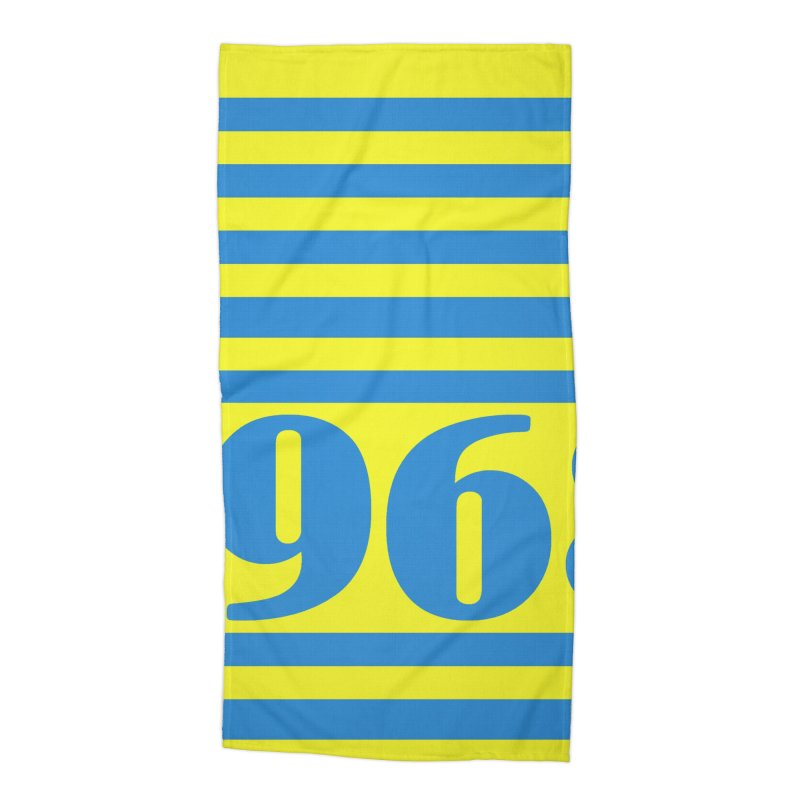 1968 STRIPES-2 Accessories Beach Towel by THE ORANGE ZEROMAX STREET COUTURE
