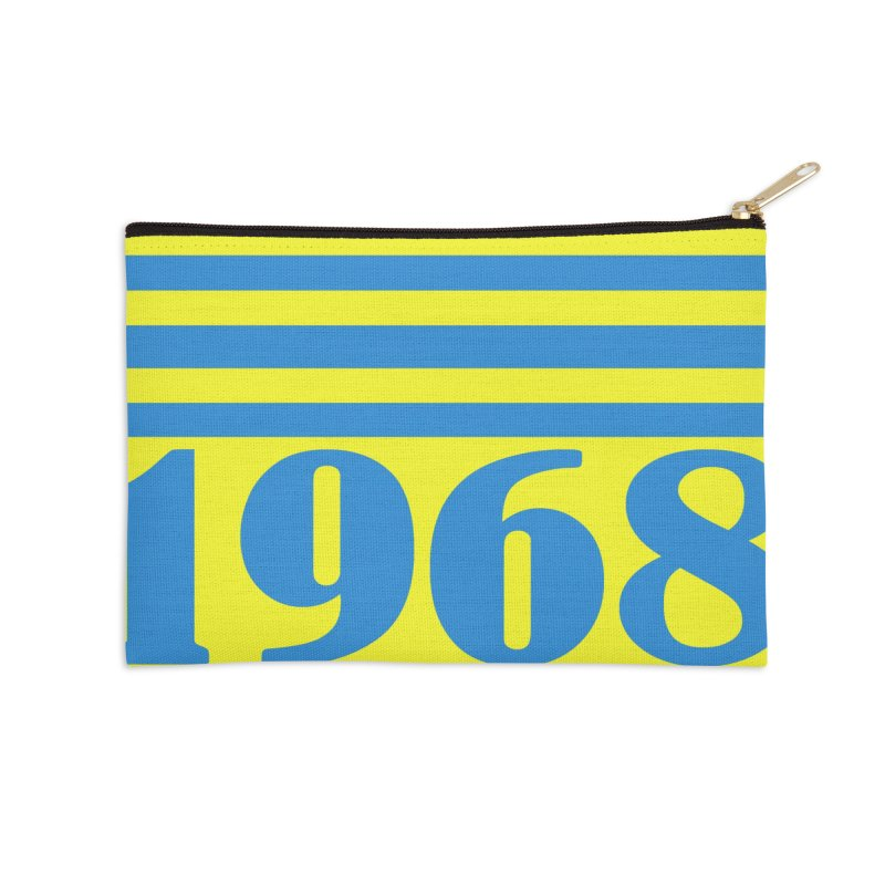1968 STRIPES-2 Accessories Zip Pouch by THE ORANGE ZEROMAX STREET COUTURE