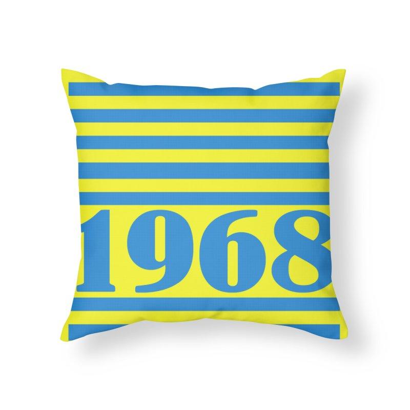 1968 STRIPES-2 Home Throw Pillow by THE ORANGE ZEROMAX STREET COUTURE
