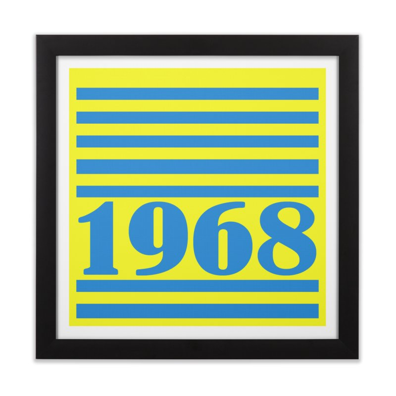 1968 STRIPES-2 Home Framed Fine Art Print by THE ORANGE ZEROMAX STREET COUTURE