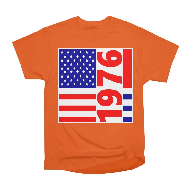 1976 Men's Heavyweight T-Shirt by THE ORANGE ZEROMAX STREET COUTURE