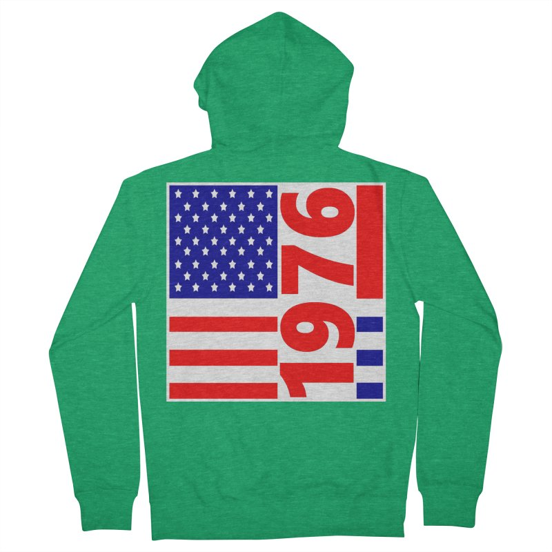 1976 Men's French Terry Zip-Up Hoody by THE ORANGE ZEROMAX STREET COUTURE