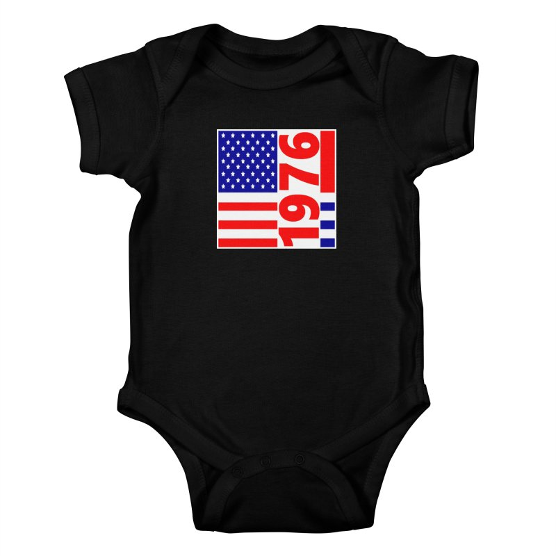 1976 Kids Baby Bodysuit by THE ORANGE ZEROMAX STREET COUTURE