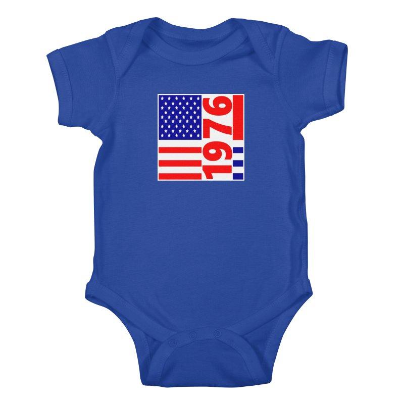 1976 Kids Baby Bodysuit by THE ORANGE ZEROMAX STREET COUTURE