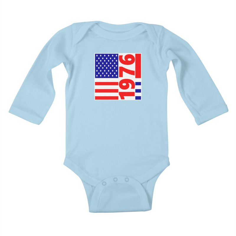 1976 Kids Baby Longsleeve Bodysuit by THE ORANGE ZEROMAX STREET COUTURE