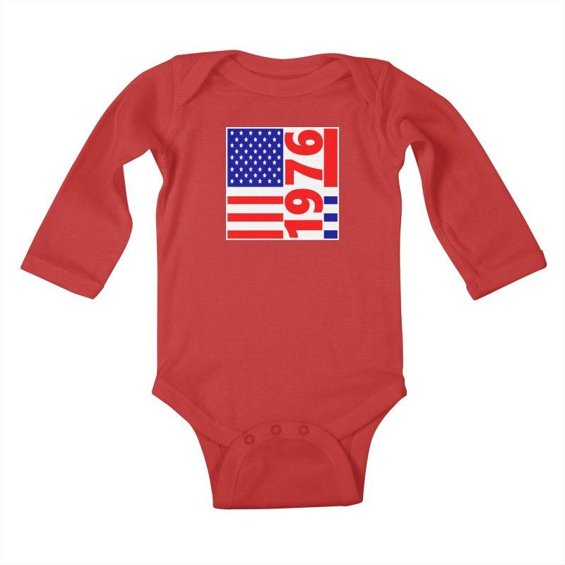 1976 Kids Baby Longsleeve Bodysuit by THE ORANGE ZEROMAX STREET COUTURE