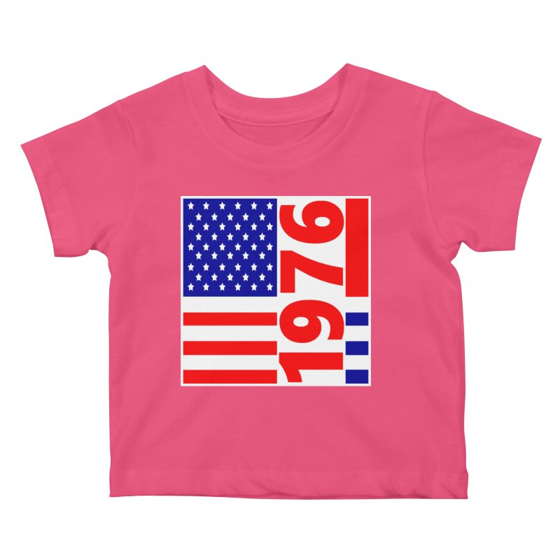 1976 Kids Baby T-Shirt by THE ORANGE ZEROMAX STREET COUTURE