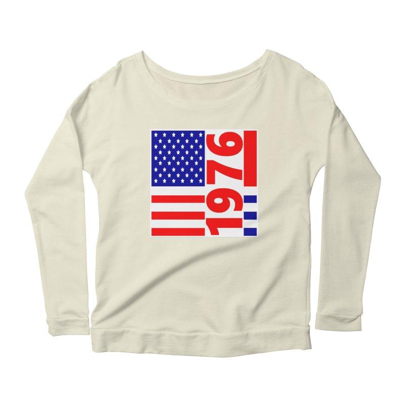 1976 Women's Scoop Neck Longsleeve T-Shirt by THE ORANGE ZEROMAX STREET COUTURE
