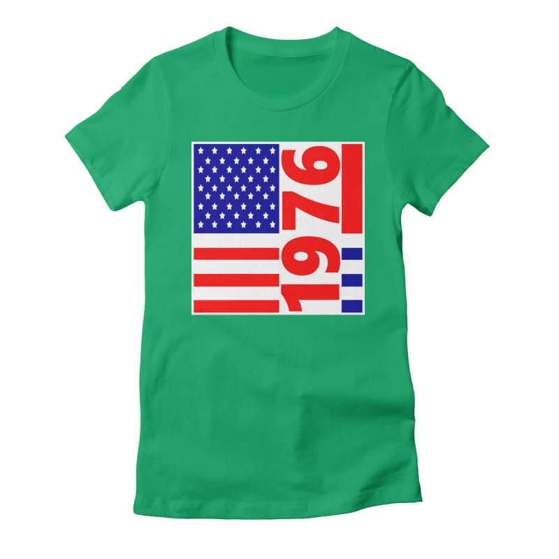 1976 Women's Fitted T-Shirt by THE ORANGE ZEROMAX STREET COUTURE