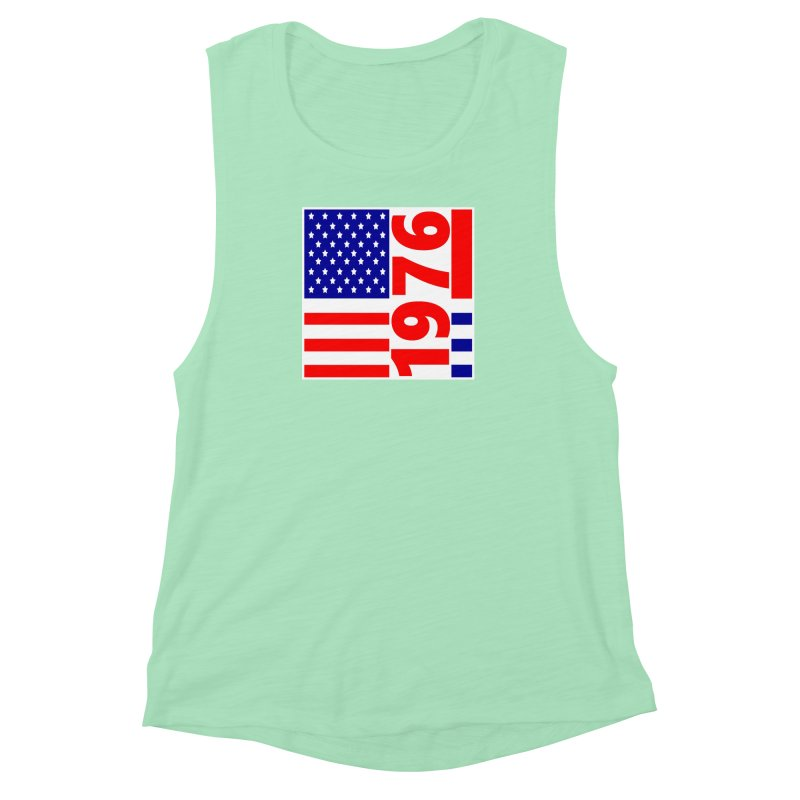 1976 Women's Muscle Tank by THE ORANGE ZEROMAX STREET COUTURE