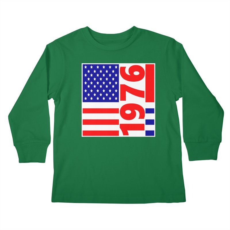 1976 Kids Longsleeve T-Shirt by THE ORANGE ZEROMAX STREET COUTURE