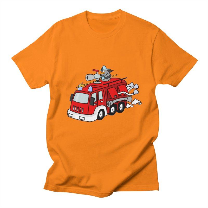 TOY FIRE TRUCK in Men's Regular T-Shirt Orange by THE ORANGE ZEROMAX STREET COUTURE