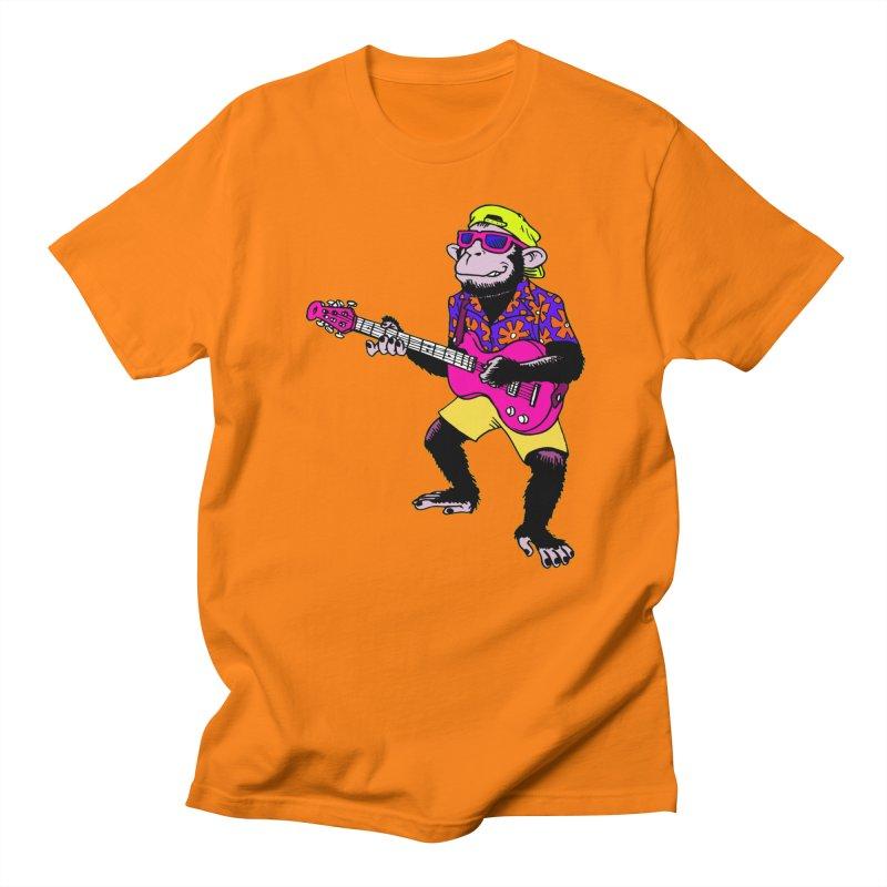 GUITAR CHIMP in Men's Regular T-Shirt Orange by THE ORANGE ZEROMAX STREET COUTURE