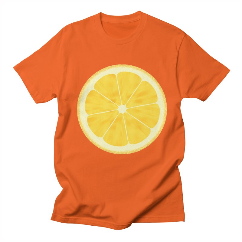 LEMON in Men's Regular T-Shirt Orange Poppy by THE ORANGE ZEROMAX STREET COUTURE
