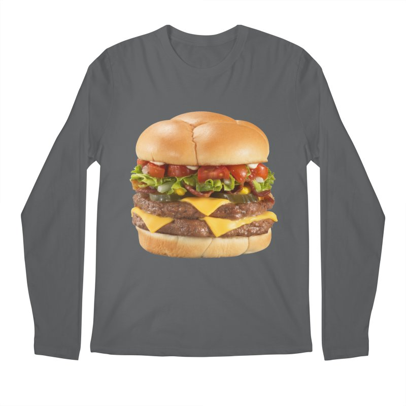 DOUBLE CHEESEBURGER Men's Longsleeve T-Shirt by THE ORANGE ZEROMAX STREET COUTURE