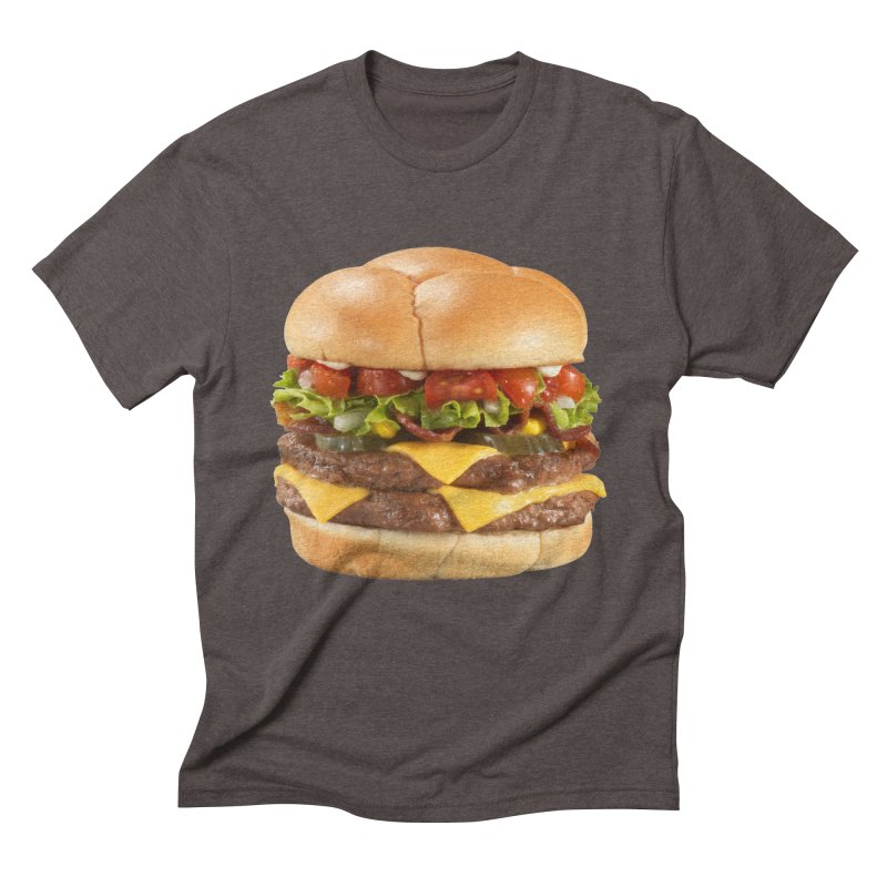 DOUBLE CHEESEBURGER Men's Triblend T-Shirt by THE ORANGE ZEROMAX STREET COUTURE