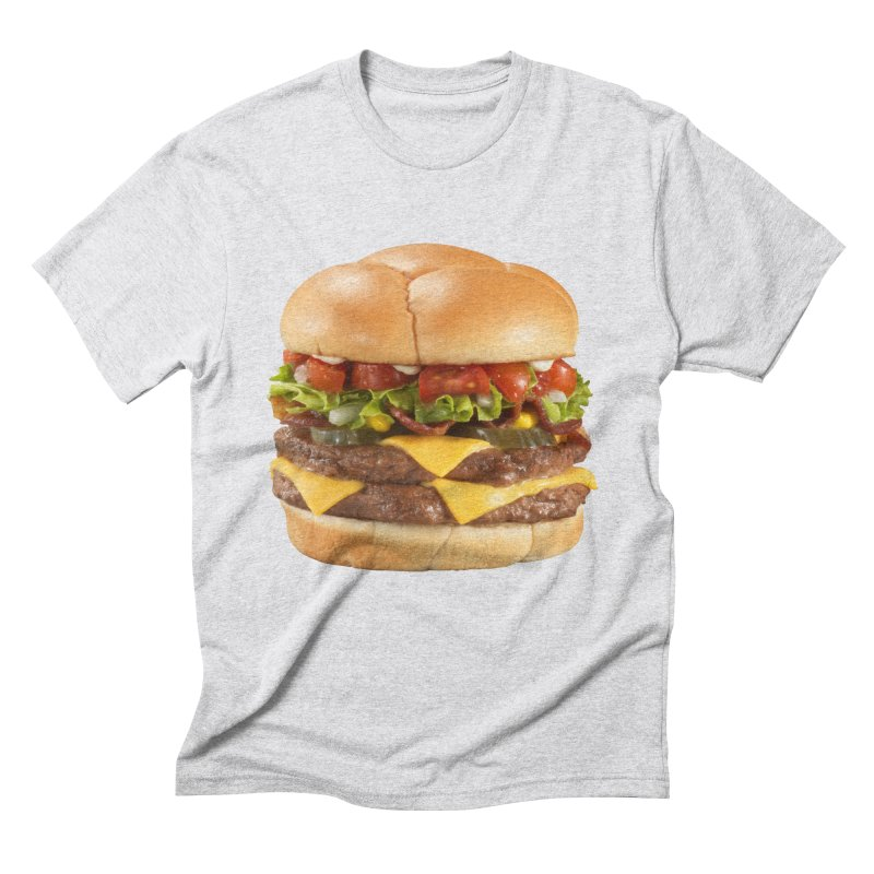 DOUBLE CHEESEBURGER Men's T-Shirt by THE ORANGE ZEROMAX STREET COUTURE