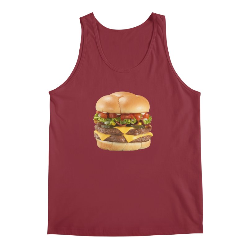 DOUBLE CHEESEBURGER Men's Tank by THE ORANGE ZEROMAX STREET COUTURE
