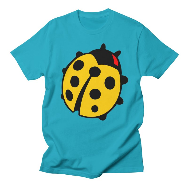 LADY BUG-2 in Men's Regular T-Shirt Cyan by THE ORANGE ZEROMAX STREET COUTURE
