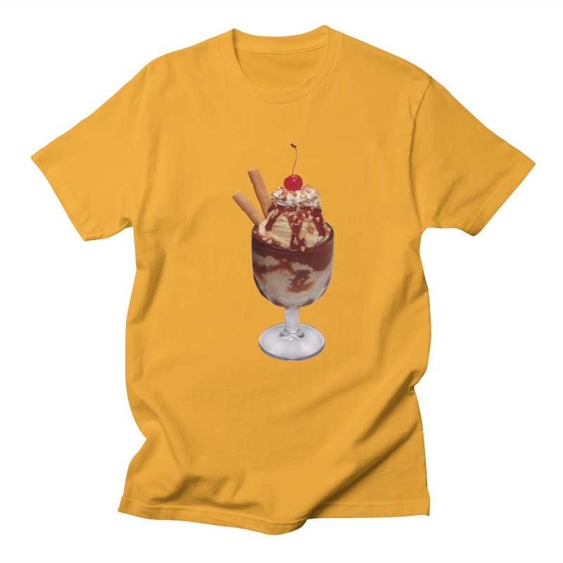 ICE CREAM-6 in Men's Regular T-Shirt Gold by THE ORANGE ZEROMAX STREET COUTURE