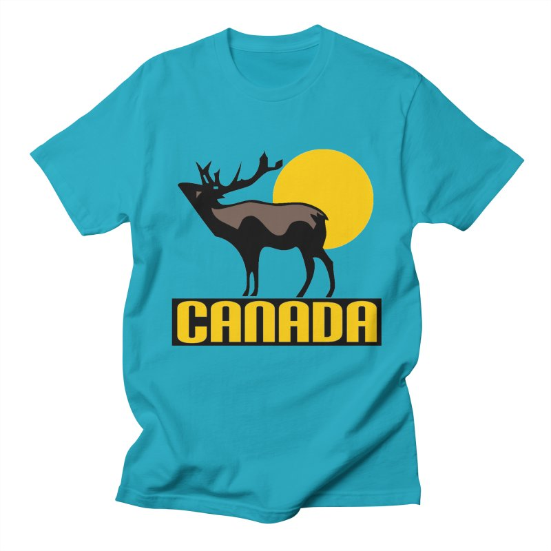 CANADA in Men's Regular T-Shirt Cyan by THE ORANGE ZEROMAX STREET COUTURE