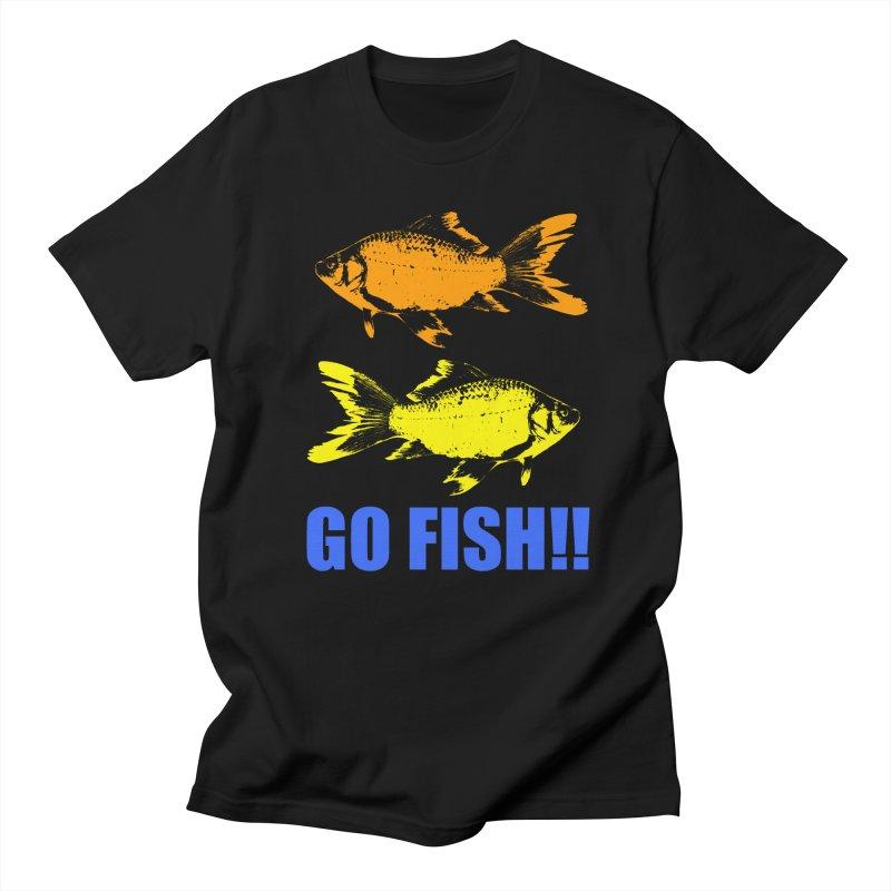 GO FISH!! in Men's Regular T-Shirt Black by THE ORANGE ZEROMAX STREET COUTURE