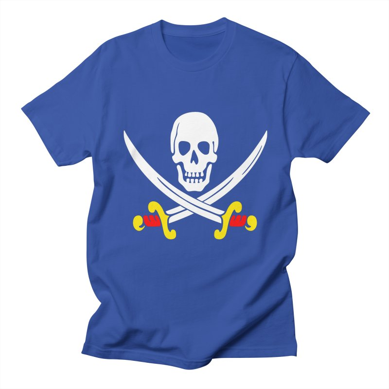 CalicoJack-Pirate Flag in Men's Regular T-Shirt Royal Blue by THE ORANGE ZEROMAX STREET COUTURE
