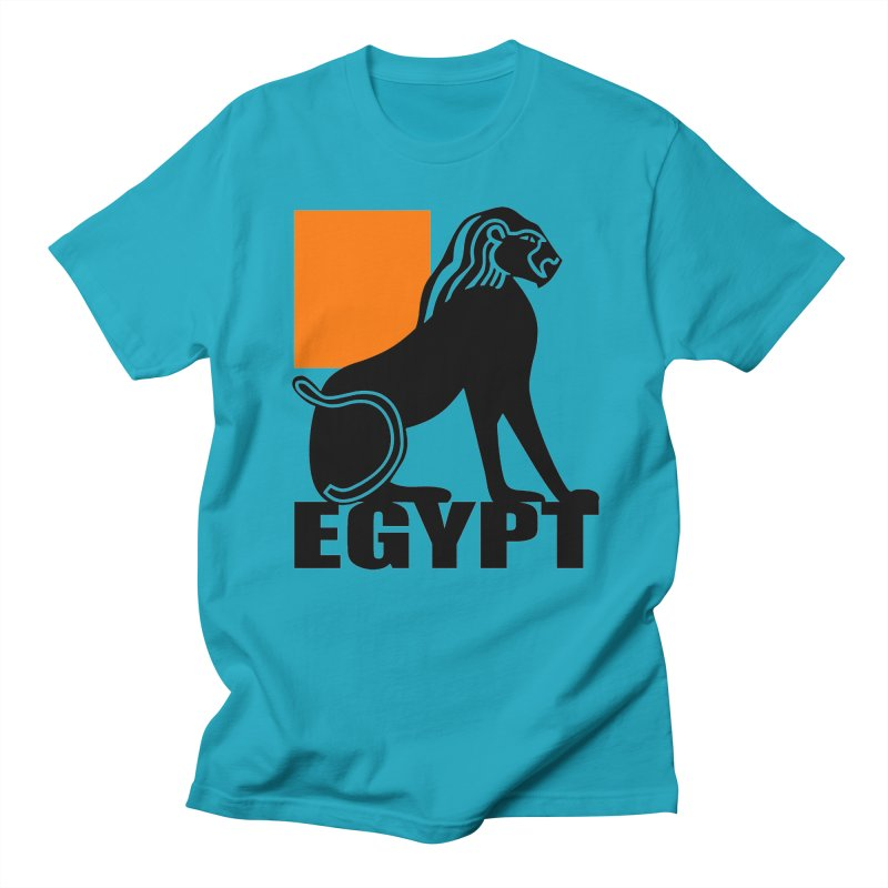 EGYPT in Men's Regular T-Shirt Cyan by THE ORANGE ZEROMAX STREET COUTURE