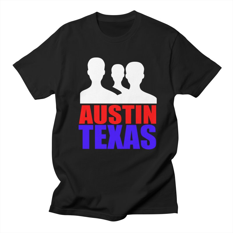 AUSTIN TEXAS in Men's Regular T-Shirt Black by THE ORANGE ZEROMAX STREET COUTURE
