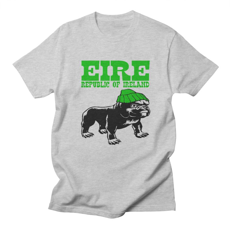 EIRE-BULL DOG in Men's Regular T-Shirt Heather Grey by THE ORANGE ZEROMAX STREET COUTURE