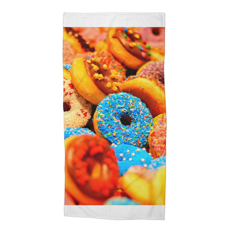 DONUTS Accessories Beach Towel by THE ORANGE ZEROMAX STREET COUTURE
