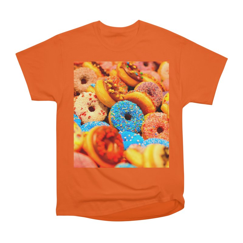 DONUTS Women's Heavyweight Unisex T-Shirt by THE ORANGE ZEROMAX STREET COUTURE
