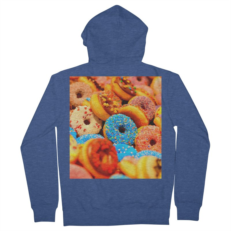 DONUTS Men's French Terry Zip-Up Hoody by THE ORANGE ZEROMAX STREET COUTURE
