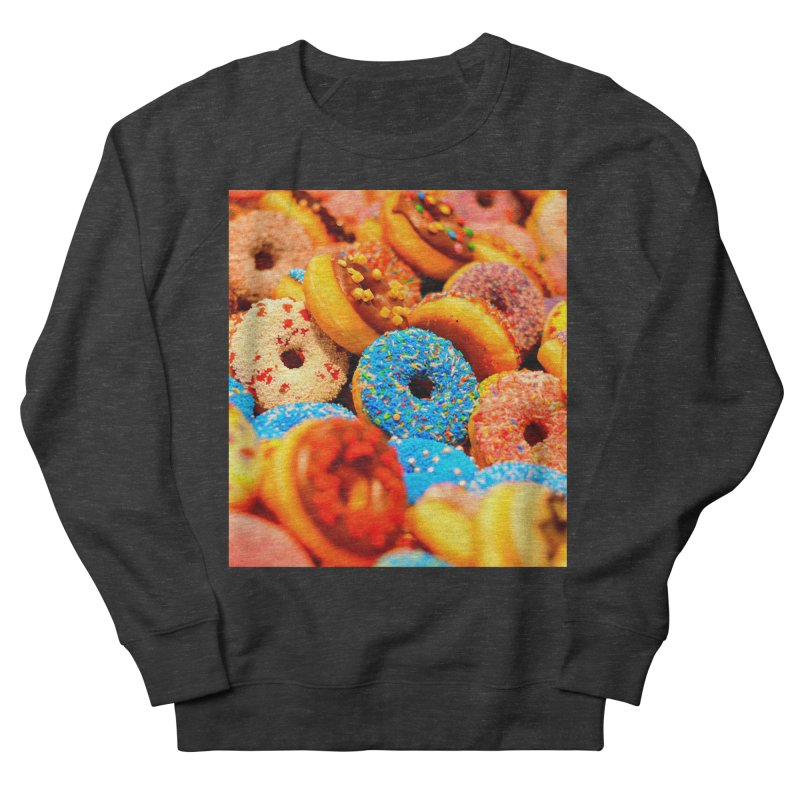 DONUTS Women's French Terry Sweatshirt by THE ORANGE ZEROMAX STREET COUTURE