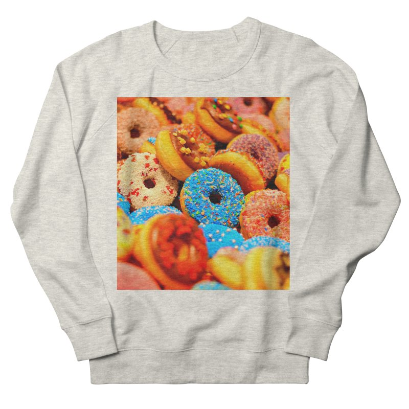 DONUTS Men's French Terry Sweatshirt by THE ORANGE ZEROMAX STREET COUTURE