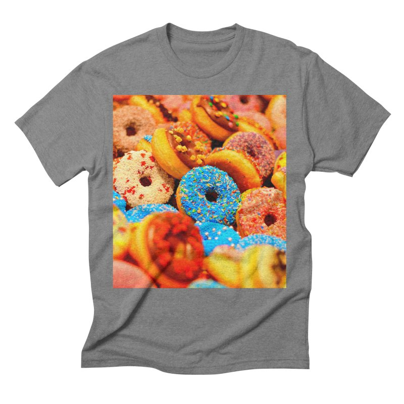 DONUTS Men's Triblend T-Shirt by THE ORANGE ZEROMAX STREET COUTURE