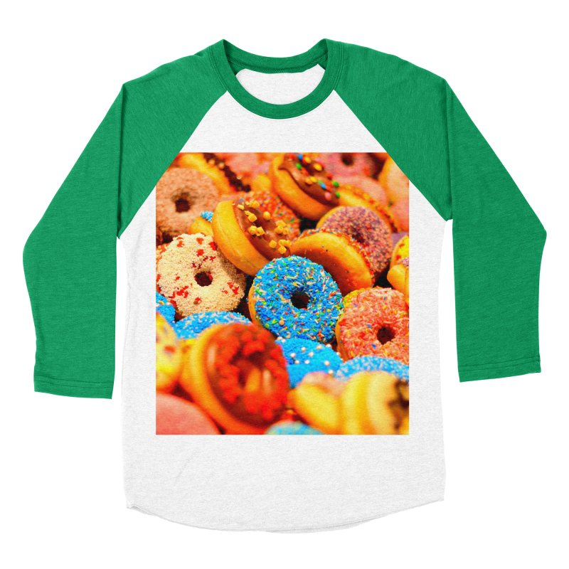 DONUTS Women's Baseball Triblend Longsleeve T-Shirt by THE ORANGE ZEROMAX STREET COUTURE