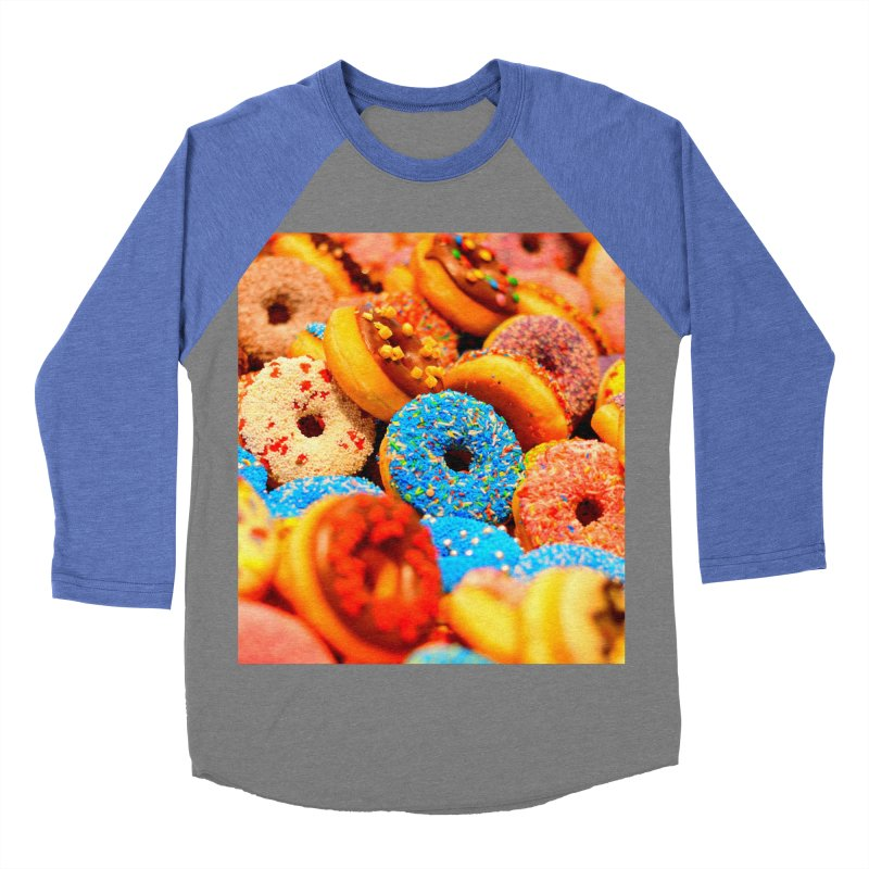 DONUTS Men's Baseball Triblend Longsleeve T-Shirt by THE ORANGE ZEROMAX STREET COUTURE