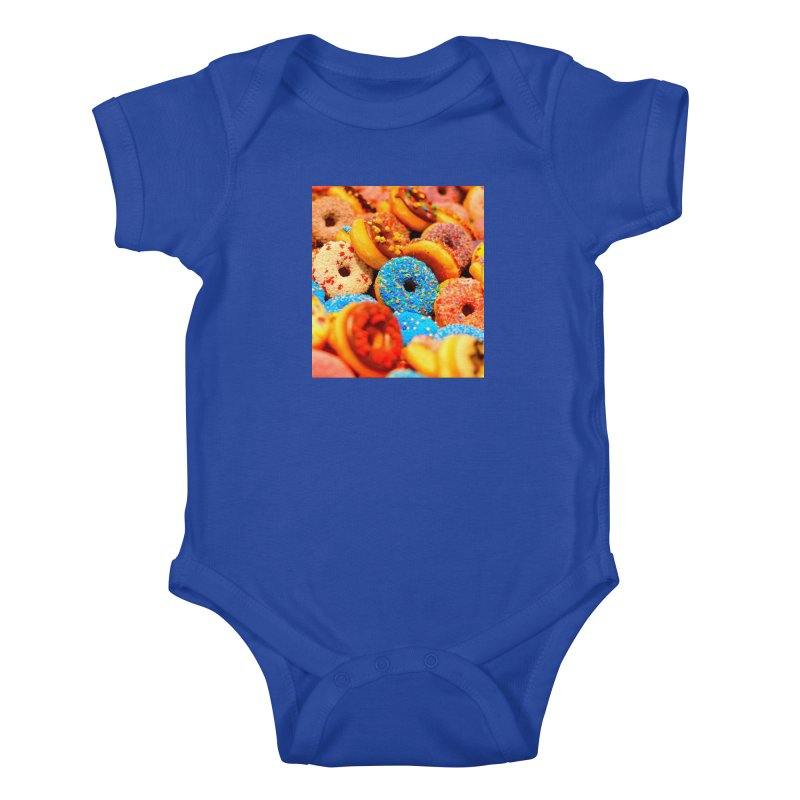 DONUTS Kids Baby Bodysuit by THE ORANGE ZEROMAX STREET COUTURE