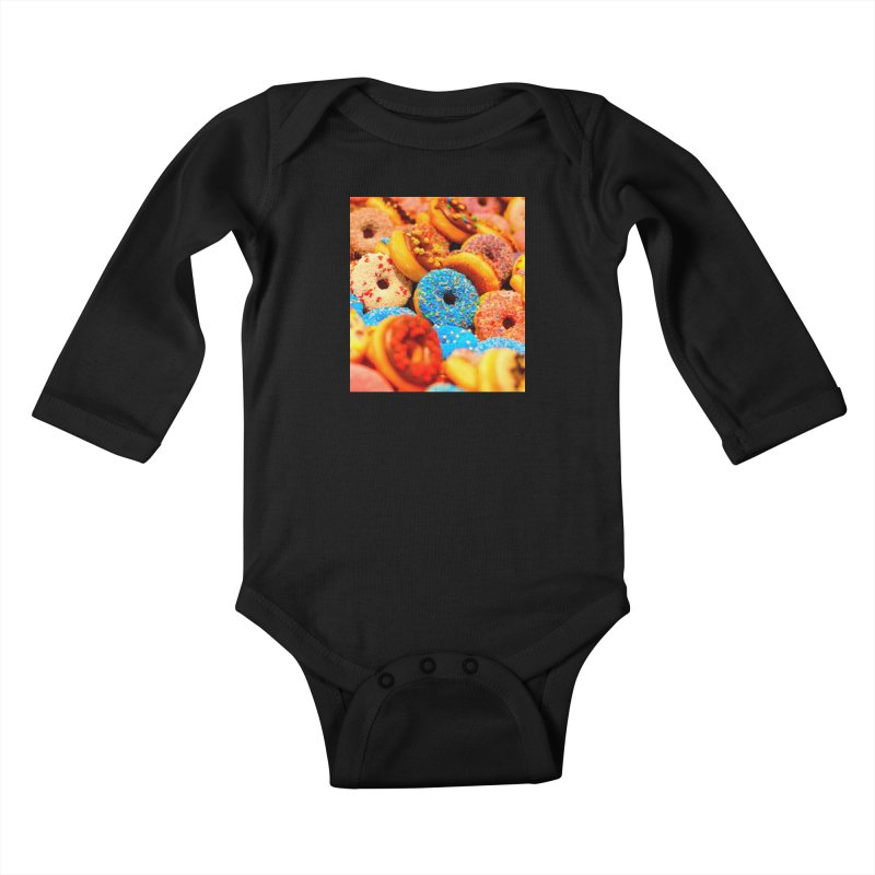 DONUTS Kids Baby Longsleeve Bodysuit by THE ORANGE ZEROMAX STREET COUTURE
